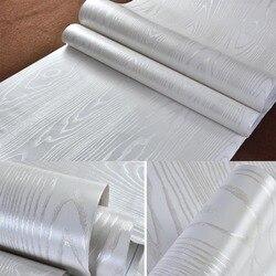 بطانة رف 3D تنقش الفضة الأبيض الخشب الحبوب خلفيات قشر StickerSelf لاصق papel الاتصال بريتو للماء
