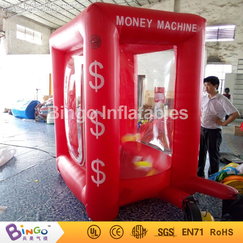 promotional Inflatable cash cube box 2.2 meter high running money inflatable game with 2 CE blowers 1.7X1.5XH2.2M BG-A0675-9 toy funny summer inflatable water games inflatable bounce water slide with stairs and blowers
