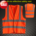 EN471 High visibility safety  reflective clothing safety vest  orange hi vis vest