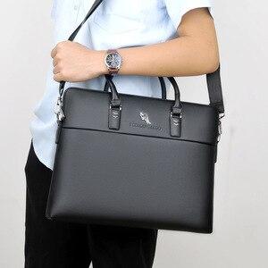 Image 2 - Bolso de mano de trabajo negro para hombre, cartera para documentos, ordenador portátil, bolso de mano, A4, Partfel, 2020