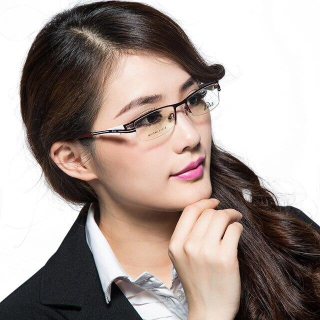 jie b titanium alloy myopia eyeglasses frame modern white collar women fashion glasses frame - Modern Glasses Frames