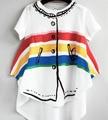 Bobo Choses 2017 New Brand Baby Wolf And Rita Kikikids Nununu Boys Rainbow T-shirt Girl Summer T Shirt High Quality 1-6Age