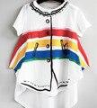Lobo E Rita Kikikids Bobo Choses 2017 Nova Marca Do Bebê Nununu Meninos Rainbow T-shirt Da Menina de Verão T Camisa de Alta Qualidade 1-6Age