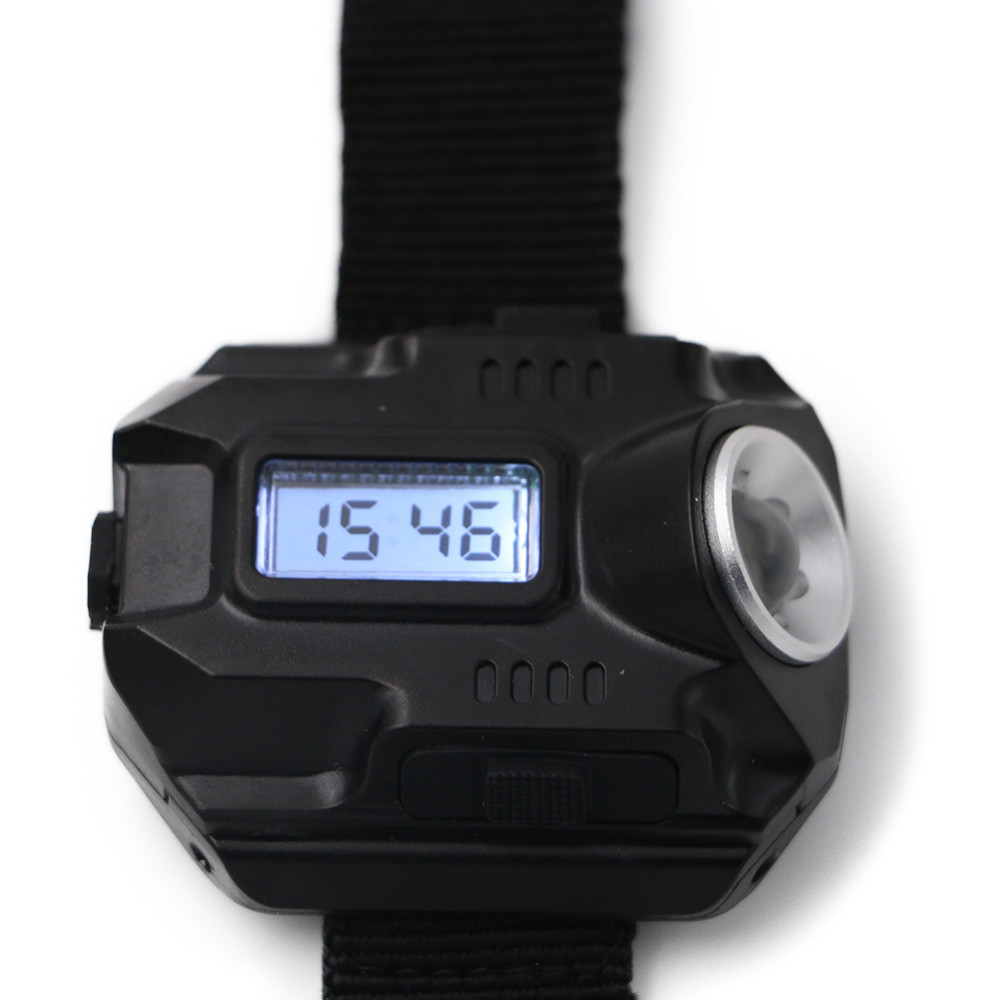 Portable and Rechargeable XPE Q5 R2 LED Watch with Flashlight USB Charging Model