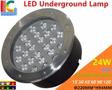24W LED Underground Lamps 12V 24V 110V 220V 85-265V Outdoor IP67 Waterproof Buried lights DMX512 Color Garden Lighting CE new 9w led underwater light 12v 24v 110v 220v 85 265v outdoor ip68 waterproof buried lights dmx512 color swimming pool light ce