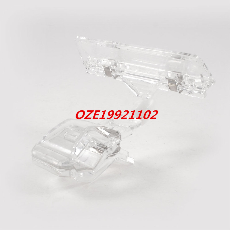 "1PCS 4.1"" High Clear Plastic Double Clips Rotatable Body Pop Sign Card Display Holder"