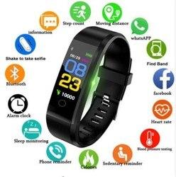 GIAUSA 2019 IP67 wodoodporny pomiar ciśnienia krwi tętno Sport nadgarstek Smartband inteligentny zegarek dla Huawei Xiaomi w Inteligentne zegarki od Elektronika użytkowa na