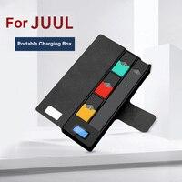 Cargador de cigarrillo electrónico Original para JUUL, cargador de batería USB, Pods, estuche protector, indicador de carga LCD, Banco de energía para JUUL