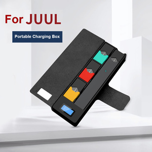 Original Electronic Cigarette Charger Box for JUUL USB Battery Charger Pods Case Holder LCD Charge Indicator Power Bank For JUUL