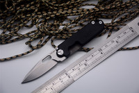 YSTART 440C blade Mini Knife flipper pocket knife titanium+G10 handle outdoor camping knife EDC tool for key ring folding knife