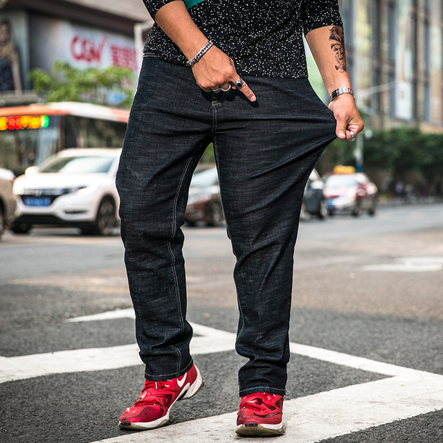 02809f01c8b43 Stretch Casual Fit Jeans Men Ripped Distressed New Designer Brands 2018 New Plus  Size 30-
