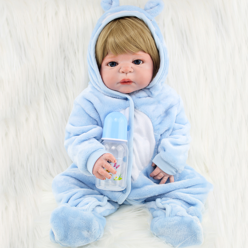 Real Live Dolls Sky Blue Baby Boys Fashion Christmas Gifts for Kids Full Silicone Sleep Accompany Dolls Lifelike Reborn Dolls григорий лепс парус live