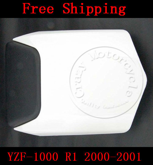 For Yamaha YZF 1000 R1 2000-2001 motorbike seat cover Motorcycle White fairing rear sear cowl cover Free Shipping 1 pcs free shipping rear seat cover cowl for 2009 2012 yamaha yzf r1 yzf r1 2010 2011 09 12 white motorcycle fairing