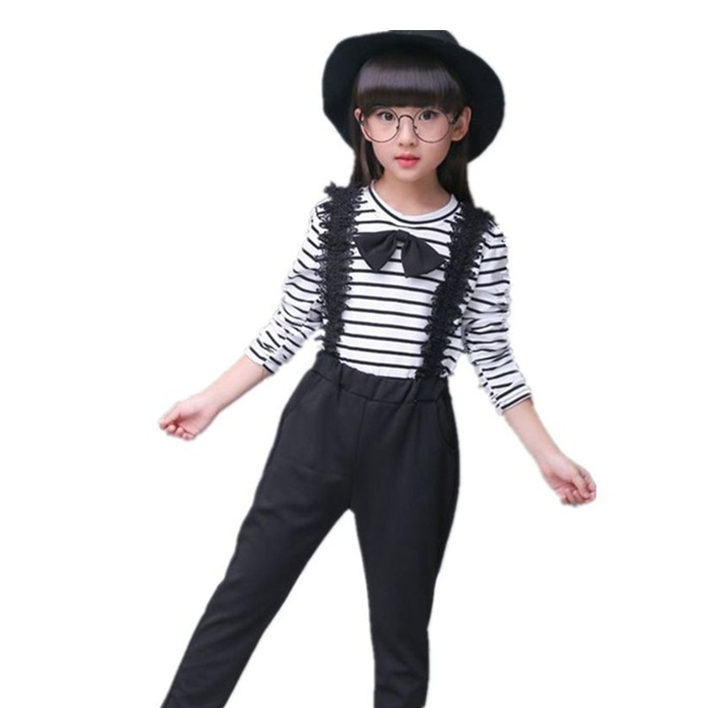 baby girls clothes set 2018 autumn fashion girl 2 pcs Suit striped t-shirt+pants Kids Sports Suit children girl clothing sets