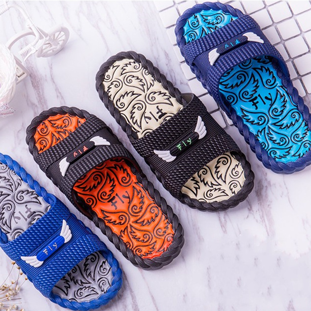 Indoor Antiskid Odor-Proof Cool Slippers Fly Ver Men Slippers Male slippers