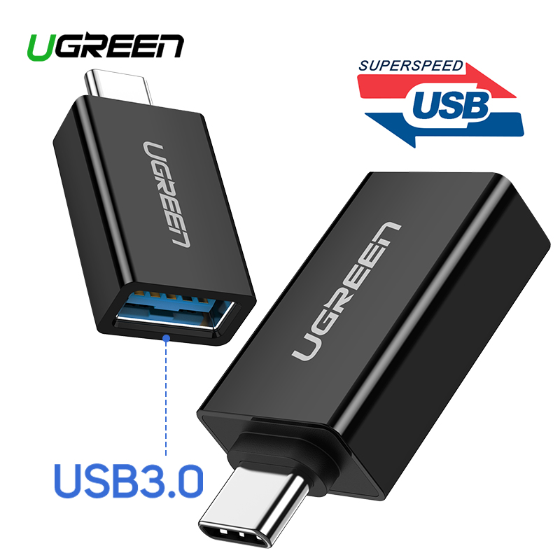 US $2 66 26% OFF|Ugreen USB C Adapter Type C to USB 3 0 Adapter Thunderbolt  3 Type C Adapter OTG Cable For Macbook pro Air Samsung S10 S9 USB OTG-in