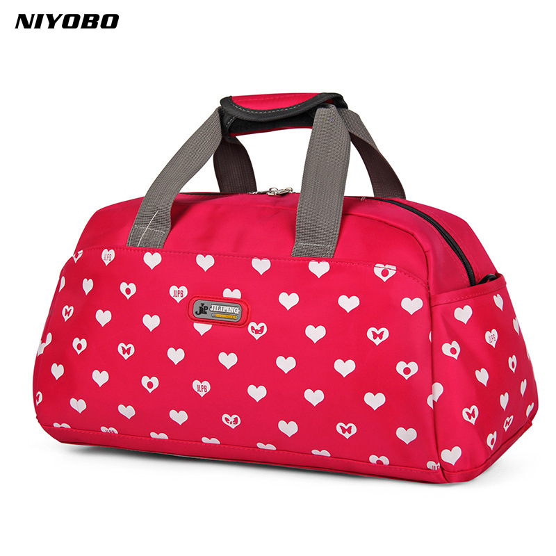 NIYOBO portable waterproof Women handbag travel bag Print Travel Tote Bag Large Capacity Duffel Folding Bags