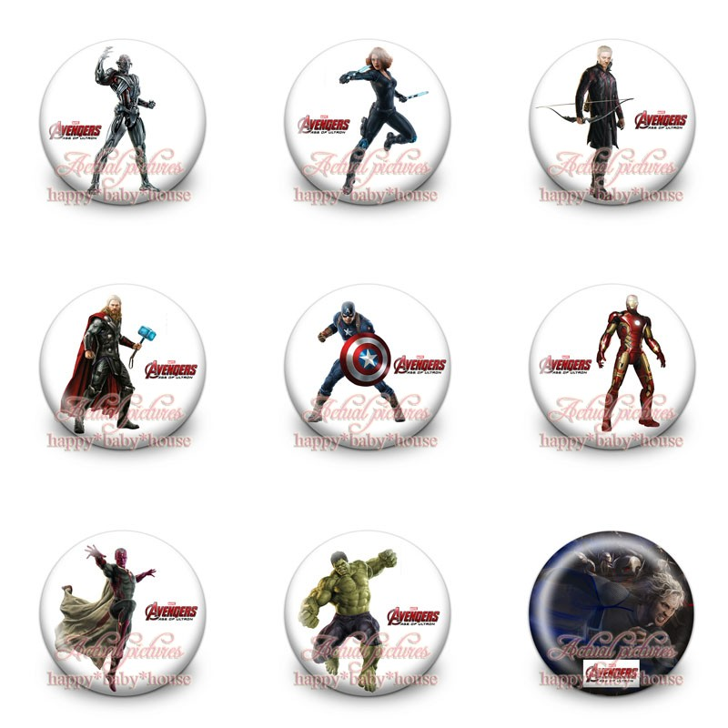 Novelty 45pcs Avengers Assemble Buttons Pins Badges Cute Round Badges,30mm Diameter,clothing/bags Accessories Kids Party Gift Luggage & Bags