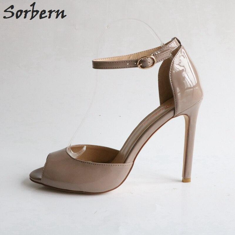 7e31a2e2b Sexy Kim Kardashian Sandal Style PVC Clear Transparent Strappy Buckle High  Heel Sandals Plus Size Custom Stilettos Women ShoesUSD 85.00 pair