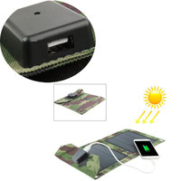 Outdoor Solar Power Energy Charger 5W Solar Charger Panel Power Source Charger Battery Pack Backup