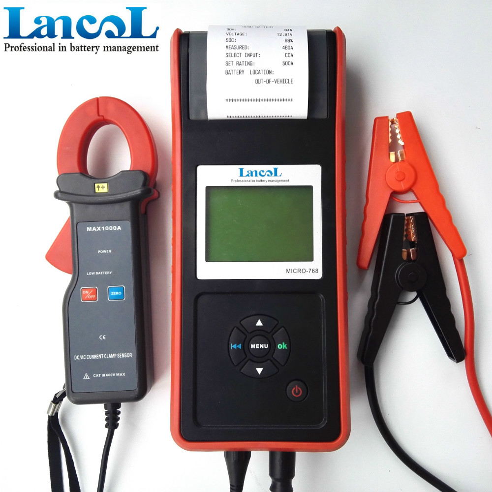 buy lancol 12v car detector battery load tester with printer micro 768a. Black Bedroom Furniture Sets. Home Design Ideas