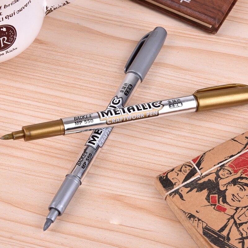 1 Pcs Stationery Metal Color Paint Pen Technology Pen Invitation Card Greeting Card Greeting Card Pen Marker Pen ral k7 paint color page chip card brochure