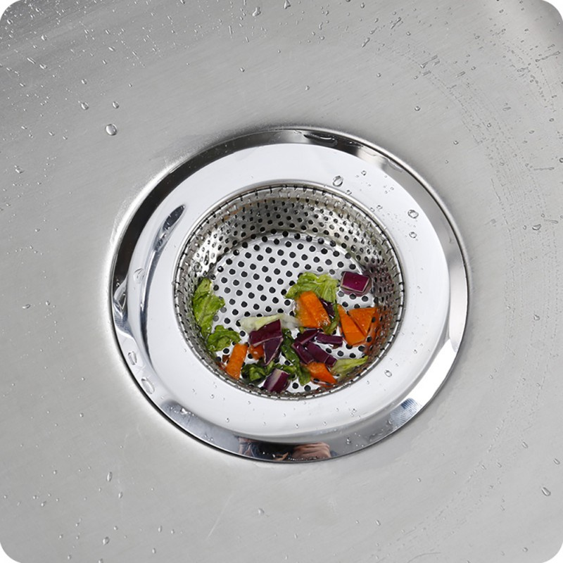 S/M/L Metal Flume Filter Mesh Kitchen Sink Strainer Trap Bath Hair Drain Hole Bathtub Wash Basin Sundries Filter No Clogging