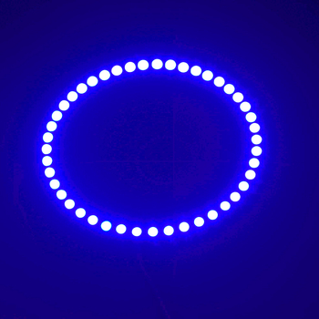1PCS x White/Blue/Yellow/Green/Red Car Led Headlight 60mm 3528 18 SMD Angel Eyes Halo Ring Light image