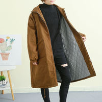 Cotton Padded Jackets Women's Long section 2018 Autumn Winter Clothing Tooling quilted Loose Korean Parkas Coat Oversized X201