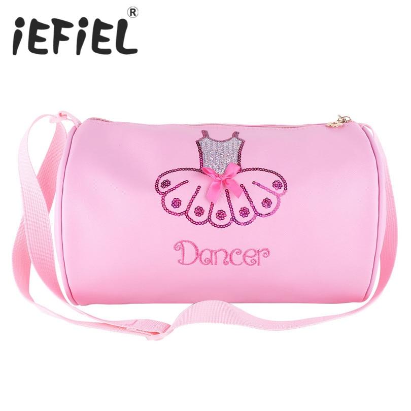 新到着かわいいキッズ女の子バレエダンスのバッグ光沢のあるスパンコール刺繍ダンスバレエダンスのバッグハンドバッグショルダーバッグ