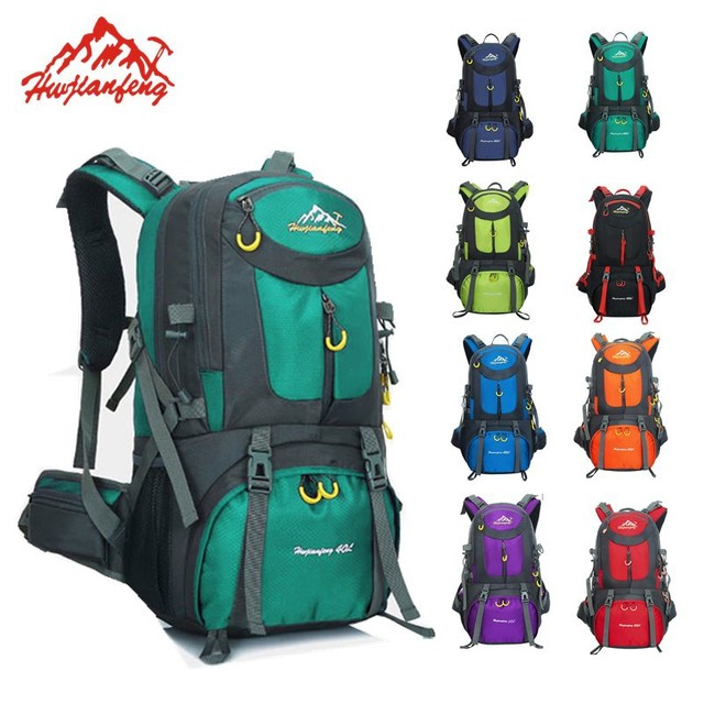 ee4b73e3e5 HUWAIJIANFENG Outdoor backpack sports bag hiking cycling bag climbing 50L  waterproof travel backpack big load backpack