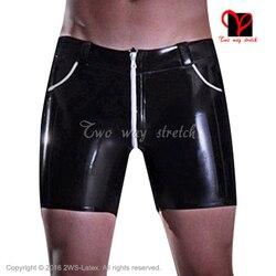 In bianco e nero In Lattice Boxer short Gomma Con Tasche con chiusura zip anteriore bottoms plus size XXL KZ-150