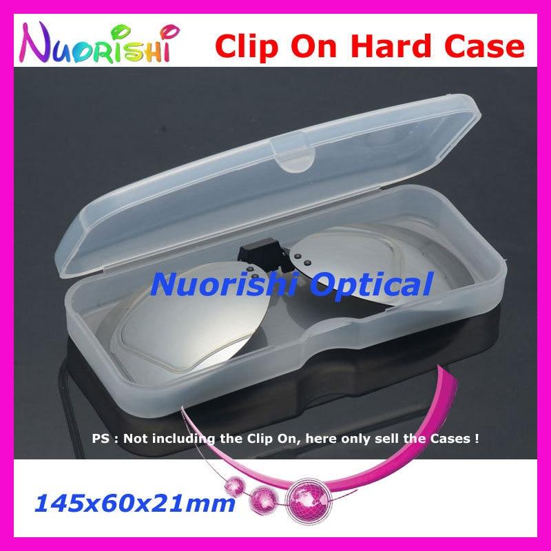 10/20 штук Очки Солнцезащитные очки для женщин очков Поляризованные клип на Пластик Футляр 145x60x21 мм cpcl