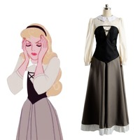 Cosplay Costume Sleeping Beauty Princess Aurora Dress Adult Women Halloween Party Cosplay Costume