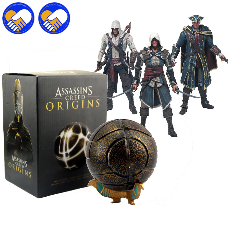 NEW HOT 10cm Assassins Creed The Apples of Eden Assassins Creeds Action figure Toys collector Christmas Gifts doll