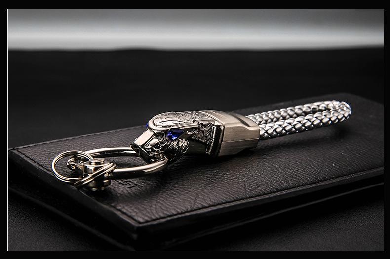 HTB19IsXcGmWQ1JjSZPhq6xCJFXaJ - New High Grade Men Key Chain Key Ring Rhinestones Car Keychains Holder Jewelry Bag Pendant Business Gift Genuine Leather K1572