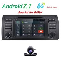 Android 7 1Quad Core GPS Navigation 7 1din Car DVD Player For BMW E39 5 Series