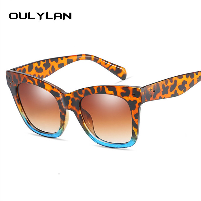Oulylan Classic Cat Eye Vintage Oversized Gradient UV400 Sunglass 3