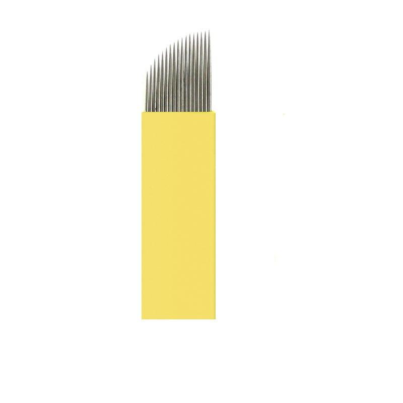 0 20mm Yellow Lumina 11 12 14 17 21 Permanent Makeup Manual Blades Microblading Tebori Promocao For Permanent Makeup Pen