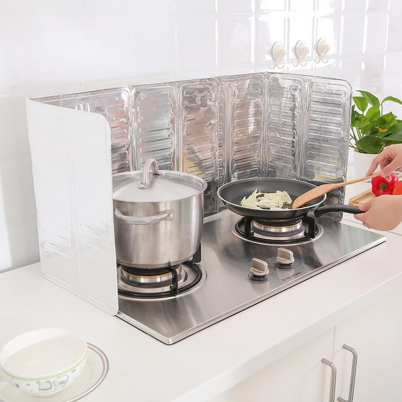 Practical Splatter Screens Kitchen Stove Foil Plate Prevent Oil Splash Cooking Baffle Easy Clean Kitchen Tool