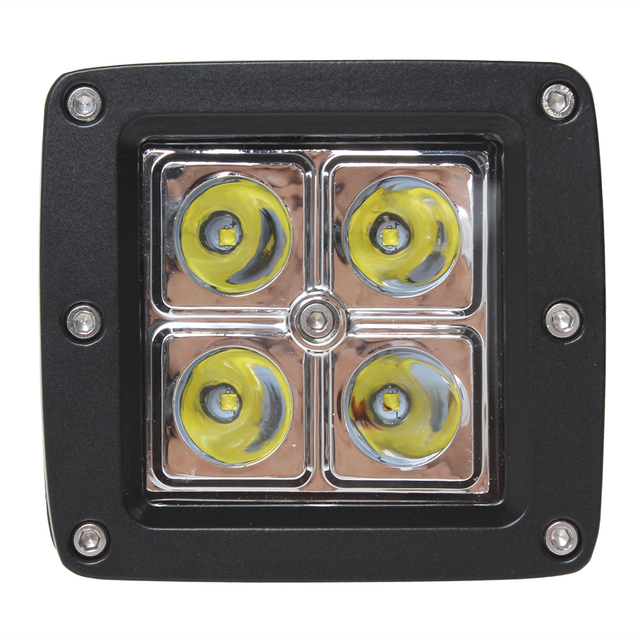 Brand New Hot Sale! 16W 4 x 4W LEDs Work Light Suitable for Motorcycle / Tractor / Boat / 4WD Offroad / SUV / ATV