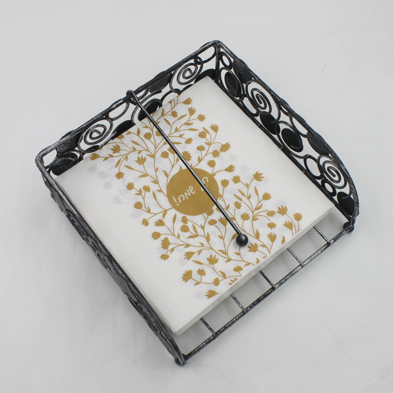 New 20pcs/lot Arab Luxury Golden Leaves Paper Napkin Wine Glass napkin table dinner paper Tissues wedding party supplies