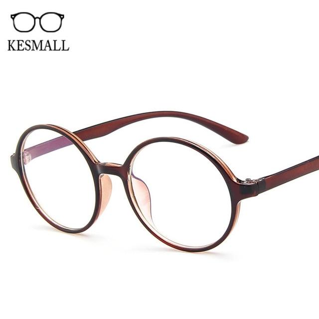 e1afbbbbce5b KESMALL New Korean Optical Spectacle Frame Men Round Shaped Gaming Eyeglasses  Frames Women Cute Retro Style