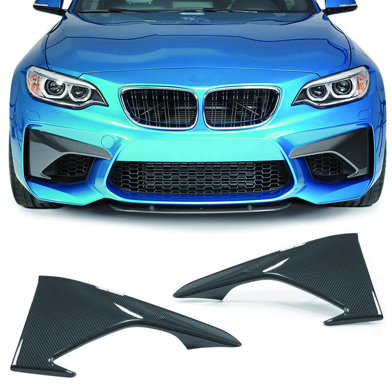 A Style Carbon fiber Front Splitter 1pair Fit For BMW F87 M2
