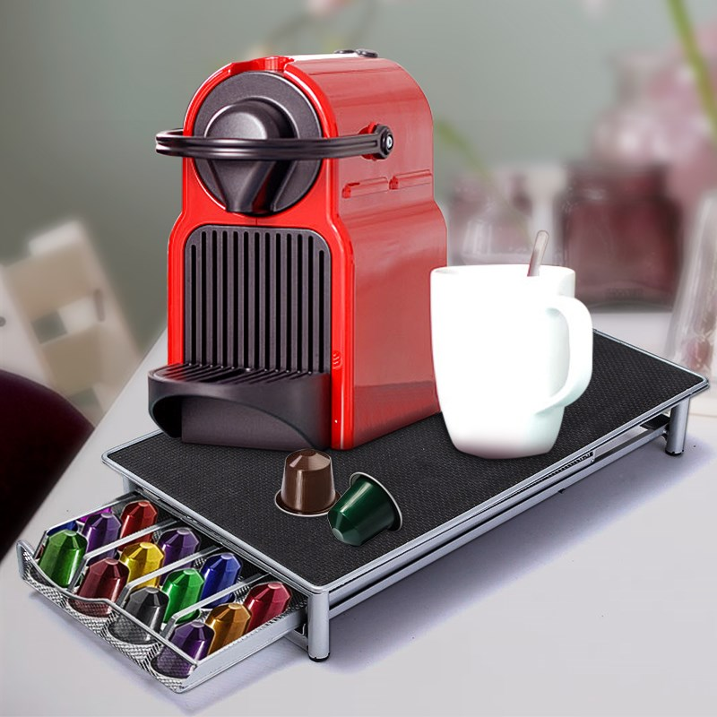 stainless steel 36 cups nespresso coffee capsules pod holder storage stand rack drawers coffee capsules shelves