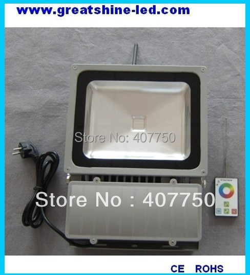 best seller RF wireless control rgb 90w led flood light control range 100m used for high ways lighting 2 working ways rf wireless intelligent