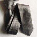 Новое прибытие 5 см ширина мода досуга галстук серебро с геометрическим рисунком галстук высокое качество gravata