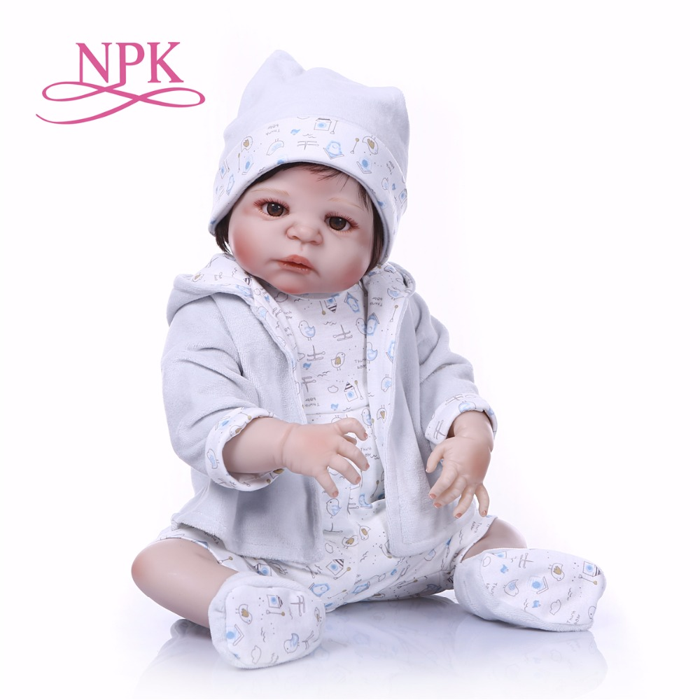 NPKCOLLECTION 55cm Full Silicone Body Reborn Baby Doll Toy Like Real 22inch Newborn boy Bebes reborn Doll Bathe Toy Kid GiftNPKCOLLECTION 55cm Full Silicone Body Reborn Baby Doll Toy Like Real 22inch Newborn boy Bebes reborn Doll Bathe Toy Kid Gift