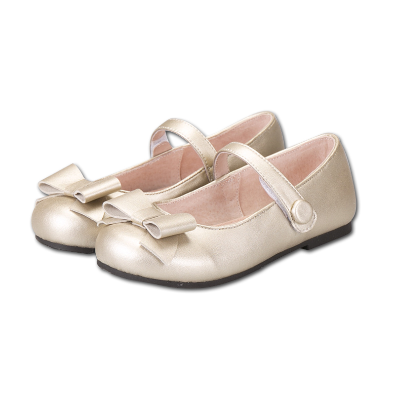 CSXD Fashion Little Girls Shoes Low Heel Flat Shoes Girls Kids Summer Princess Casual Shoes Golden
