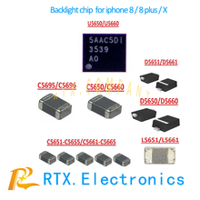 1set(11pcs) For IPhone 8 8Plus X Backlight IC solutions Kit U5660+Coil C5696 C5660+Diode D5660+Capacitor C5651-C5655 Filt L5661